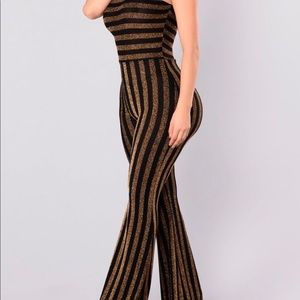 Black and gold glitter jumpsuit
